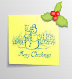 Christmas Sticky Note Royalty Free Stock Images