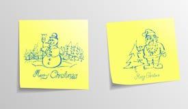 Christmas Sticky Note Royalty Free Stock Photos