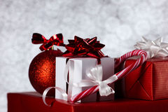 Christmas still on bokeh background Royalty Free Stock Photos