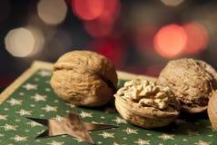 Christmas still-life. Christmas still life with walnut Royalty Free Stock Photos