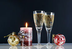Christmas still life. Against the black background Stock Photo