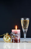 Christmas still life. Against the black background Stock Photography