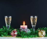 Christmas still life. Against the black background Stock Images
