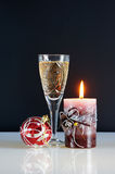 Christmas still life. Against the black background Royalty Free Stock Image