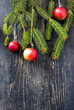 Christmas still life with apples Stock Photo