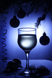 Christmas still-life with beverage Stock Photos