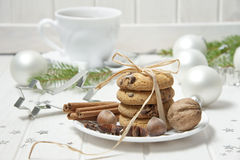 Christmas still life with biscuits Royalty Free Stock Photography