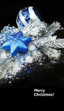 Christmas still life on black background Royalty Free Stock Photography