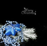 Christmas still life on black background Stock Images