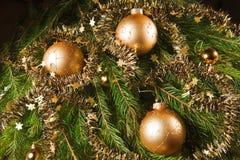 Christmas still life on black background. Stock Image
