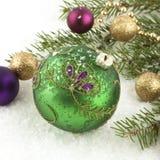 Christmas still life with bright symbols Stock Photo
