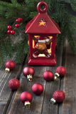 Christmas still life with bright symbols Royalty Free Stock Photo