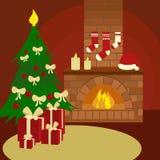 Christmas still life cartoon vector illustration. Christmas still life. Colorful hand drawn cartoon vector illustration Stock Photography
