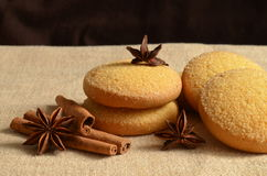Christmas still life. With cinnamon and cookies Royalty Free Stock Photography