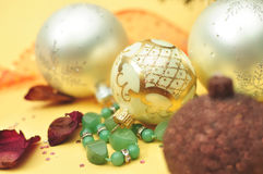 Christmas still life composition Stock Photos