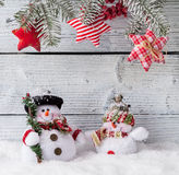 Christmas still life decoration with wooden Stock Photos