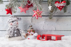 Christmas still life decoration with wooden Stock Photo