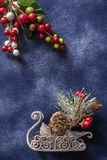 Christmas still life decorations background stock photography