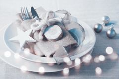 Christmas still life for a dinner Royalty Free Stock Images