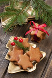 Christmas still life with  gingerbread cookies Stock Photography