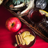 Christmas still life with hot wine and spices Stock Photo