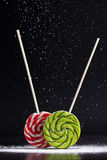 Christmas still life with lollipops royalty free stock photography