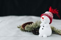 A christmas still life pictre  on a grey table cloth Stock Images