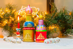 Christmas still life in the Russian style Stock Photo