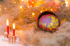 Christmas still life in the Russian style Stock Images