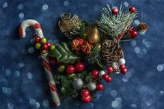 Christmas still life textured background stock images