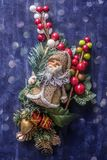 Christmas still life textured background stock photos