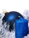 Christmas still life with tree, ball. Stock Images