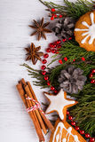 Christmas still life. Up view. Stock Images