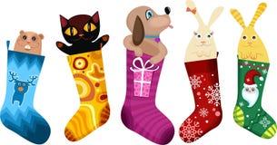 Christmas stocking vector illustration