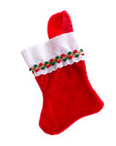 Christmas stocking. On white background Royalty Free Stock Images