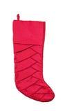 Christmas Stocking. Red Christmas stocking isolated on white background Stock Images