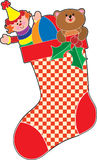 Christmas Stocking. Filled with lots of toys Stock Image