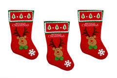Christmas stocking. S in a white background Royalty Free Stock Photography