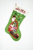 Christmas Stocking. On a white background Stock Image