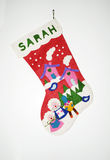 Christmas Stocking. On a white background Royalty Free Stock Images