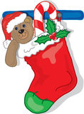 Christmas Stocking. Full color vibrant illustration of a christmas stocking  with presents Stock Photos