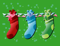 Christmas Stocking. Illustrations vector of Christmas Stocking Royalty Free Stock Photos