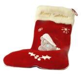 Christmas stocking. Isolated on a white background royalty free stock image