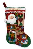 Christmas stocking. A felt Christmas stocking Stock Photos