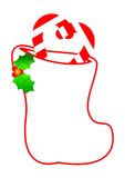 Christmas Stocking Border Royalty Free Stock Image