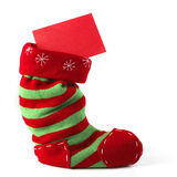 Christmas Stocking With Card Royalty Free Stock Photos