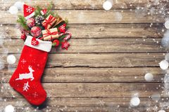 Christmas stocking royalty free stock photography
