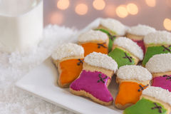 Christmas Stocking Cookies Royalty Free Stock Photos