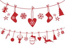Free Christmas Stocking Decoration, Vector Set Stock Images - 132013644