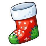 Christmas Stocking. Detailed Icon. Christmas Stocking isolated on white background Royalty Free Stock Photos